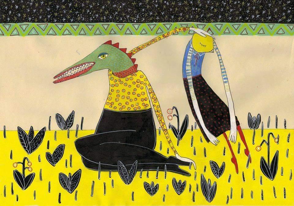 Gužák Klaudia festménye