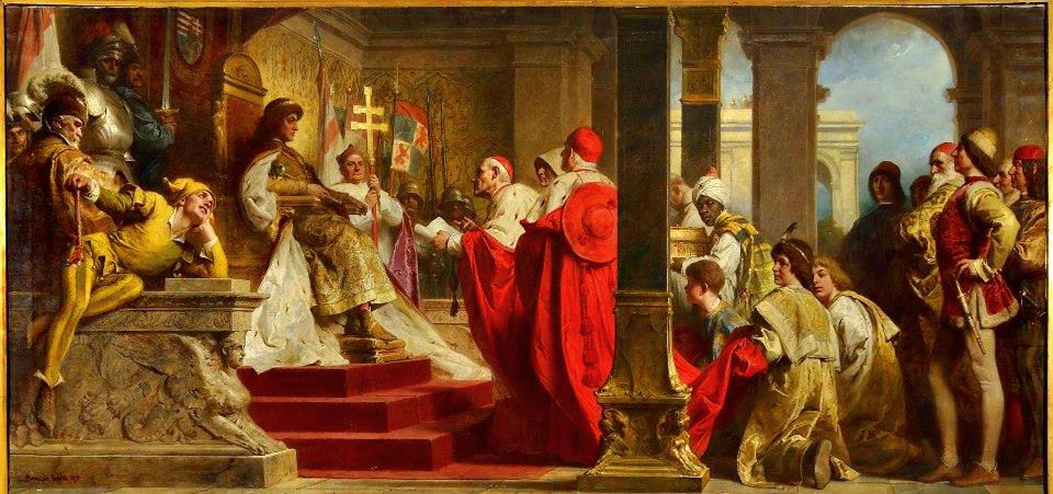 Benczúr Gyula: Mátyás király fogadja a pápai követeket
