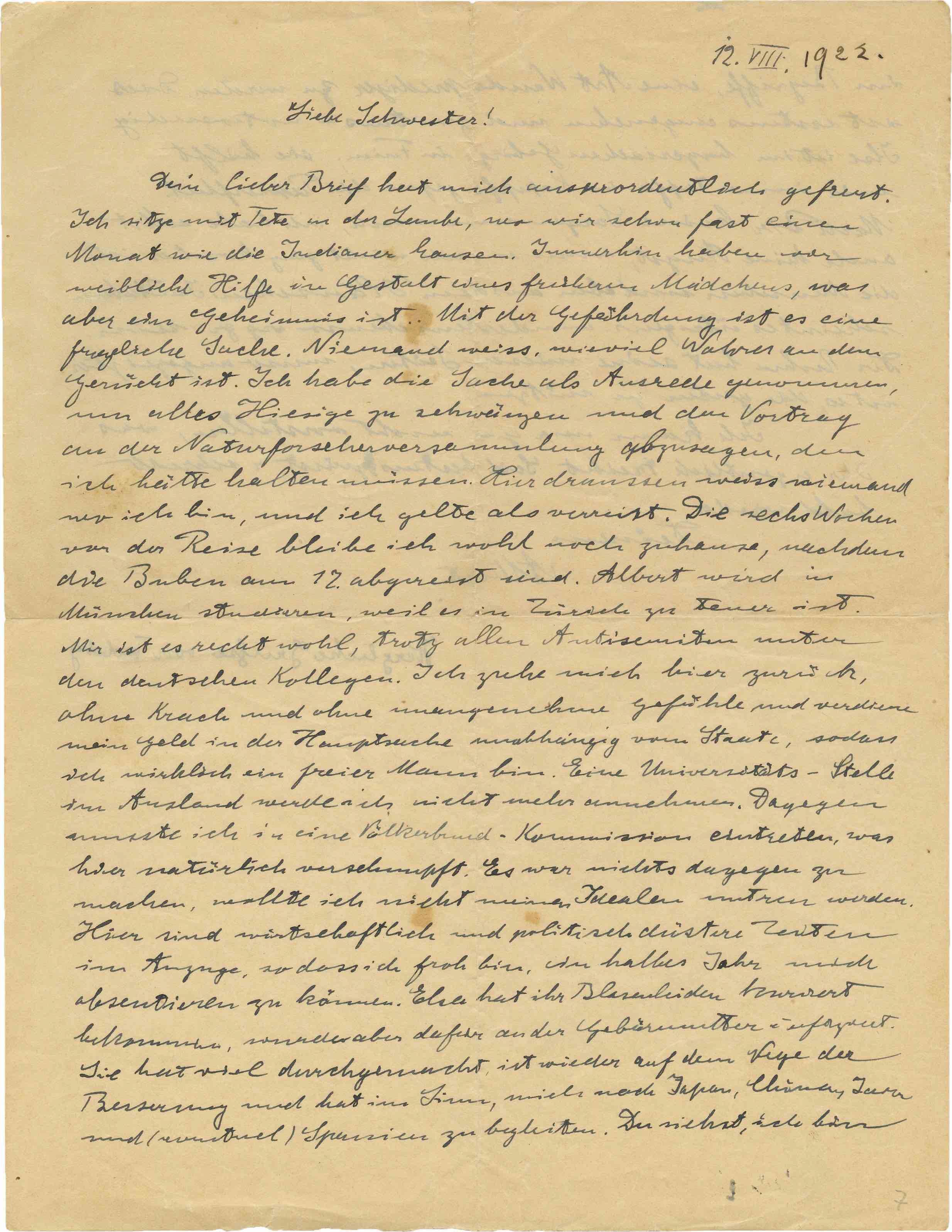 einstein levél